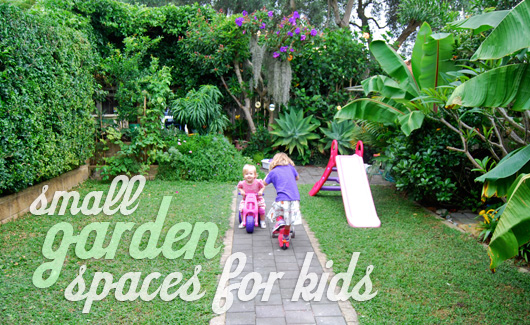 At home with ali small garden spaces for kids part 1 for Children friendly garden designs