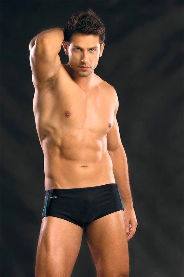 Ex-BBB Eliéser posa de sunga para nova coleção da Elite e mostra o corpo sarado. Foto: Divulgação