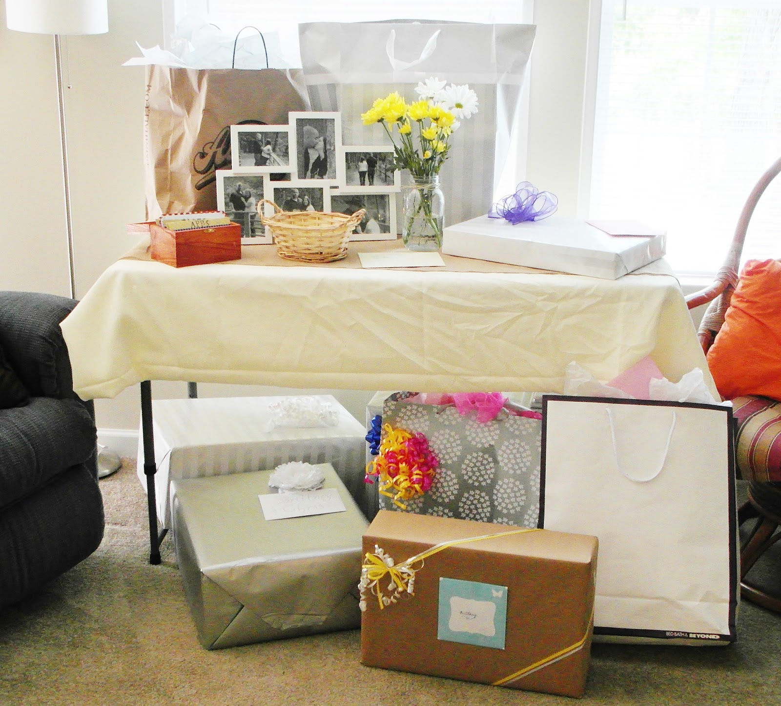 beyond the aisle: entertaining: breeze's shower! [how to plan a rustic bridal shower: invites ...