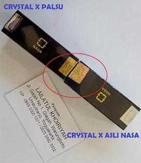 Crystal X Asli dan Palsu