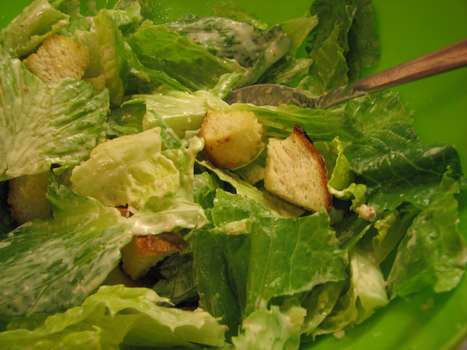Plate it up right away. Caesar shouldn't sit. Top with fresh grated