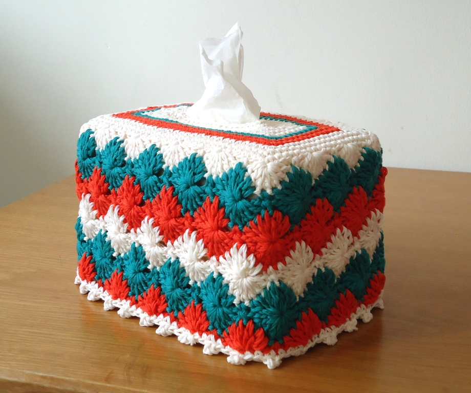 Free Crochet Pattern For Sofa Tissue Box Cover : CROCHETED TISSUE BOX COVER PATTERN Patterns