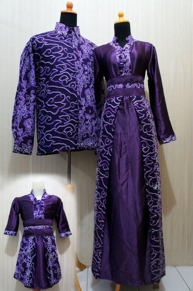 Gambar Model Gamis Batik Kombinasi