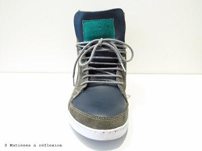 Sneakers Piola homme bleu/vert
