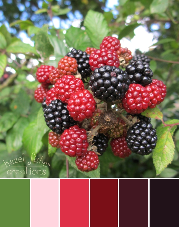 Autumn Blackberries colour palette hazelfishercreations