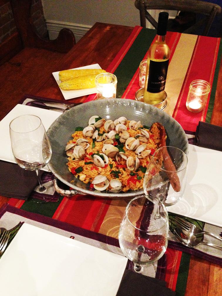Homemade Seafood Orzo Paella