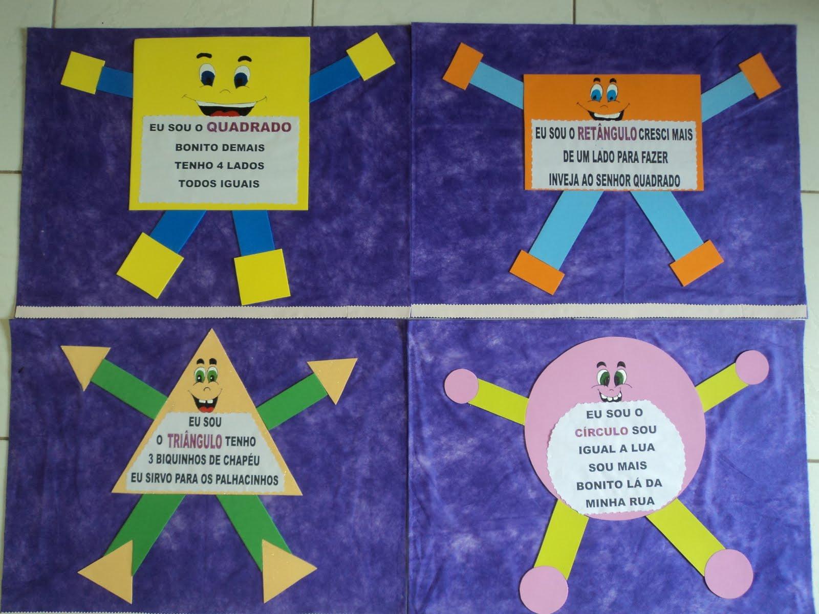 ideias para trabalhar no jardim de infancia:Educação Encantada – Paula Amaral: História da quadradinha – Formas
