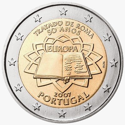 2 euro coins Portugal 2007, Treaty of Rome