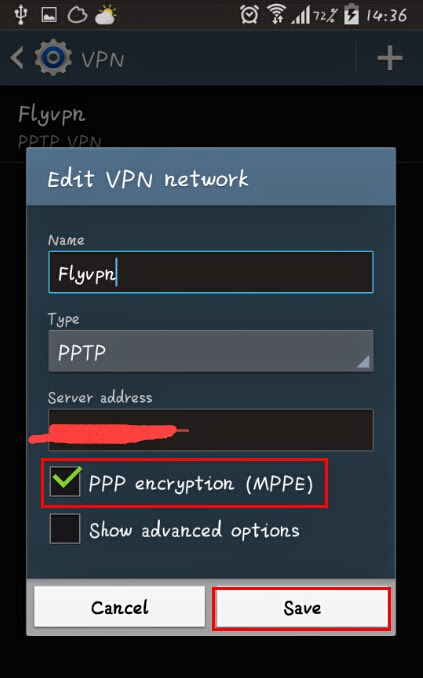 "choisir ""PPP encryption (MPPE)"""