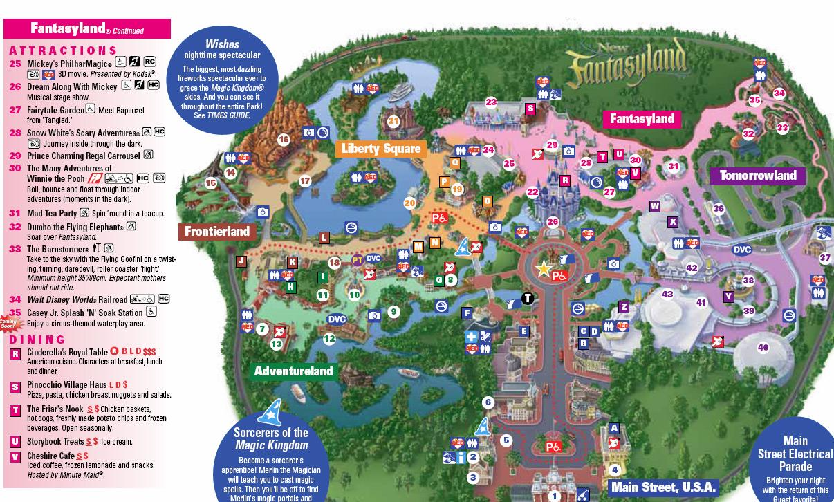 Magic Kingdom 2013 Mapas - walt disney world