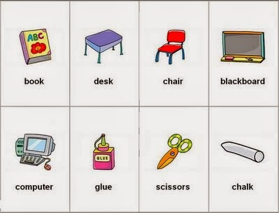 Nuestro d a a dia en clase octubre 2013 for 10 objetos del salon en ingles