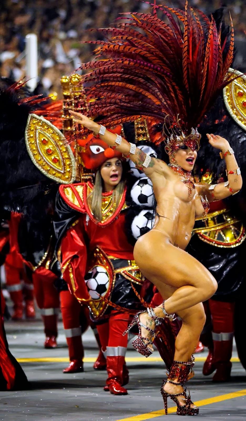 Brazil Carnival 2014 - Sambadrome enthusiasm