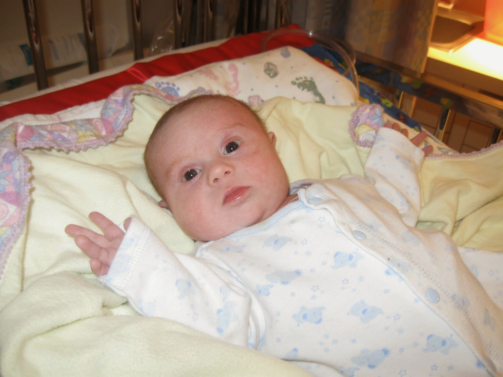 Jacob in NICU with heart failure