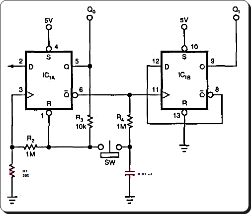 latch debouncer switch circuit diagram