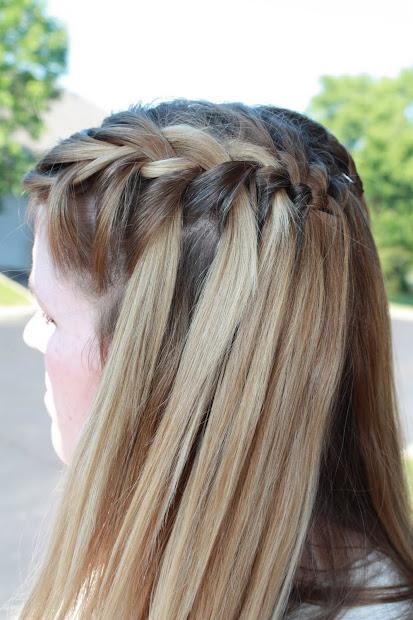 sweet waterfall french braid