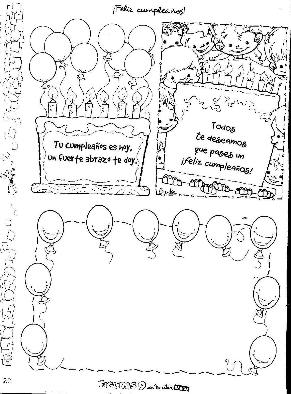 tarjetas de para cumpleaos listas para imprimir y compartir en un da tan especial con los cumpleaeros