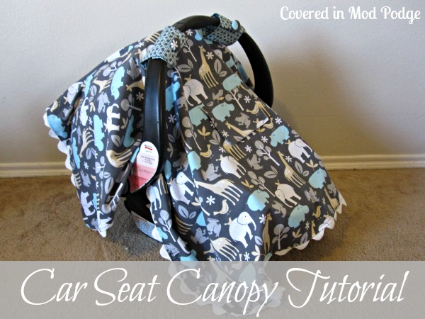 covered in mod podge car seat canopy tutorial or ric rac and giant fabric covered buttons. Black Bedroom Furniture Sets. Home Design Ideas