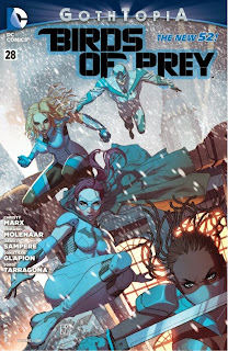 Cover of Birds of Prey #28 from DC Comics featuring Wings of Truth