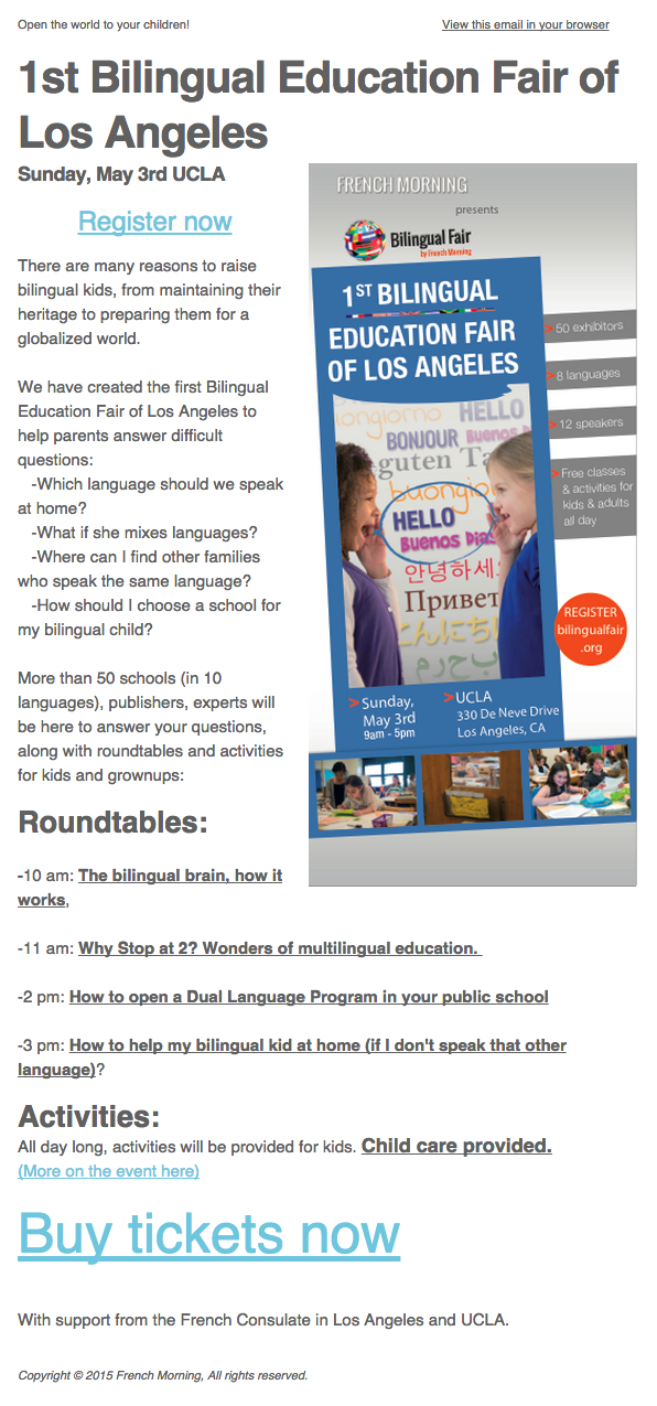 The First Bilingual Education Fair of Los Angeles