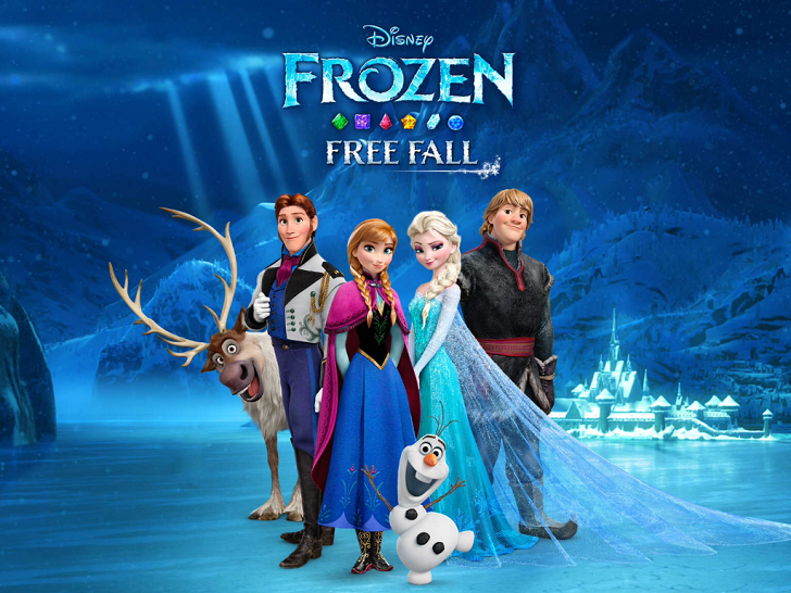 Frozen Free Fall Free App Game By Disney