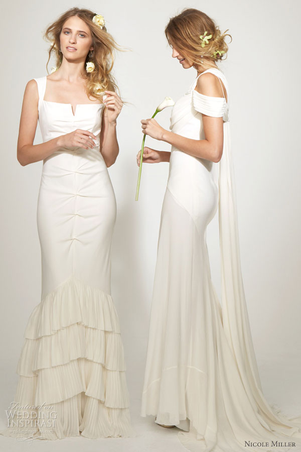 See some collection of Nicole Miller fashion dresses for wedding this season