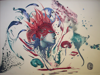 inconsciente, beatriz, concha, imagen, pintura, mujer, sueño, inconsciencia