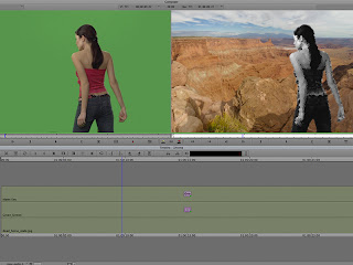 Generating a chroma key in Avid Media Composer with an effect on the foreground.