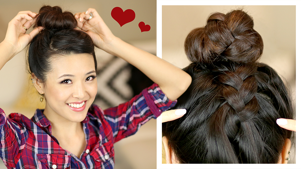 HAIR TUTORIAL: French Braid Sock Bun - From Head To Toe
