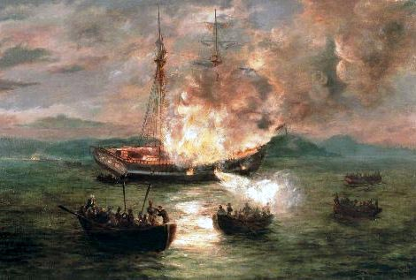 gaspee affair The burning of the gaspee by charles dewolf brownell, c1892 the real first shot of the american revolution may have been fired at the hms gaspee, a british customs schooner, on narragansett.