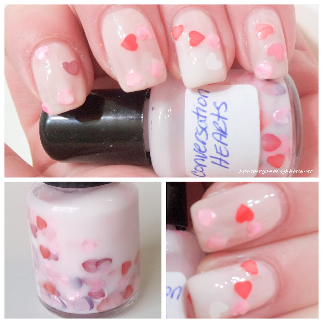 SickLacquers Conversation Hearts franken polish