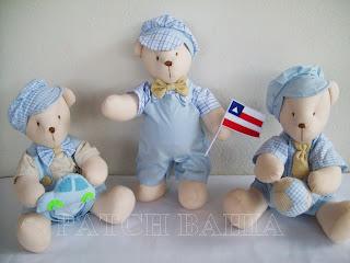ursinhos de pano, ursinhos para nichos, ursinhos para quarto de bebê, ursinhos para decoração
