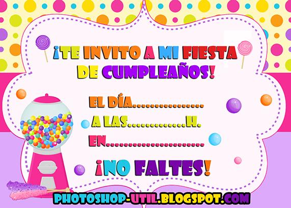 Fondo para invitación cumpleaños - Imagui