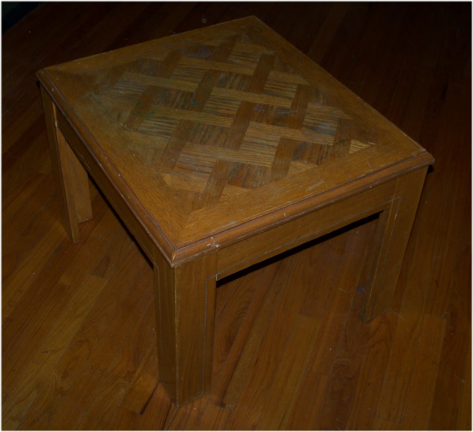 Diy End Table Squarish end table since