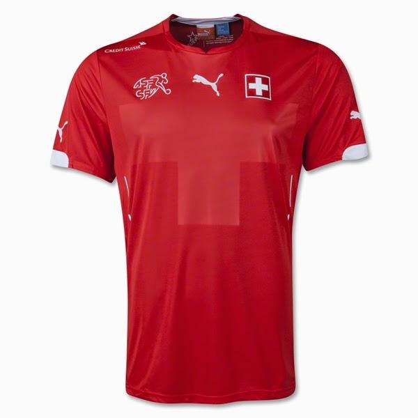 Jersey Negara Switzerland - Piala Dunia 2014