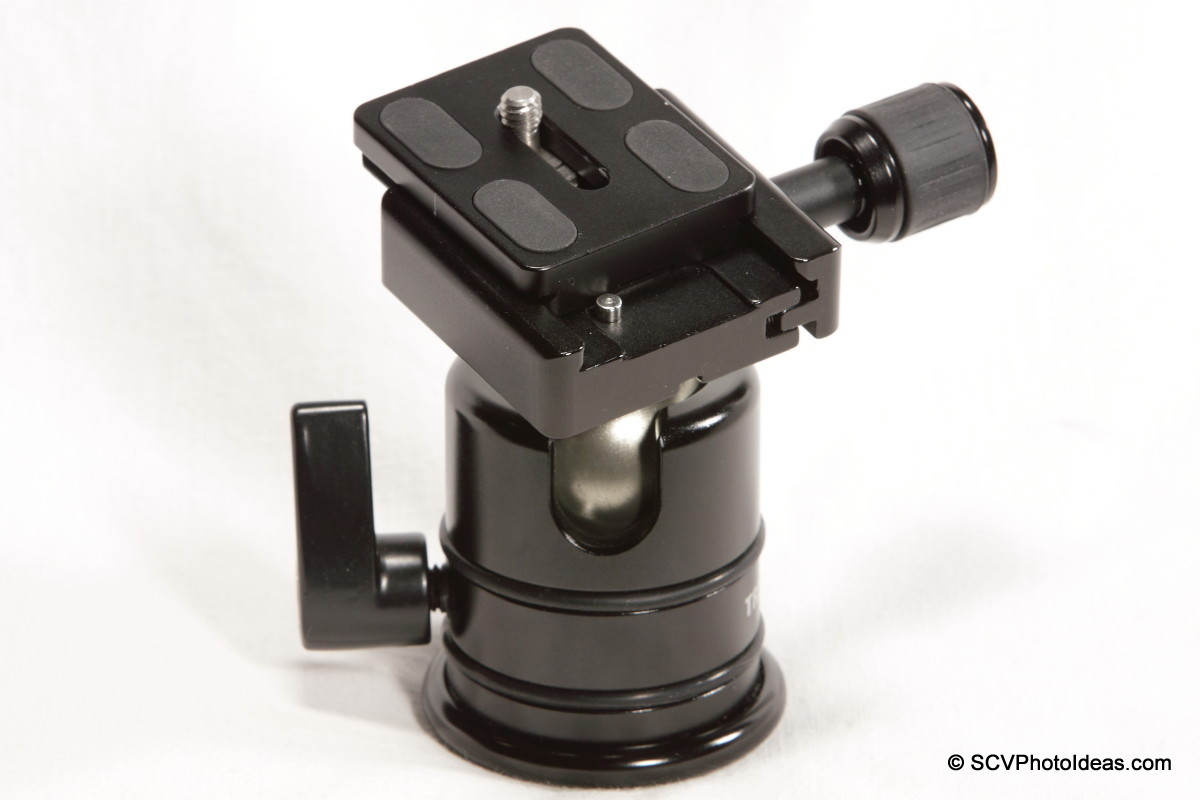 Triopo B-2 QR Clamp on Triopo RS-3 ballhead w/ off-set camera plate