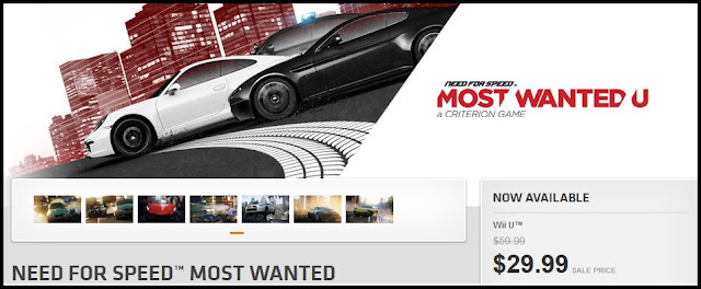 EA is offering the Wii U version of Need for Speed: Most Wanted for $29.99 through the Origin store