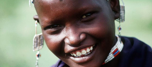 Masai girl, Tanzania