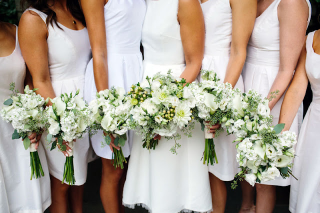 Neutral White Wedding Party