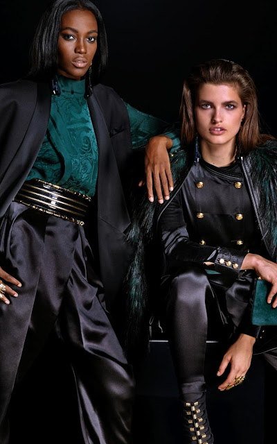 balmain collection for hm The dresses are very feminine and tight, the pants and trousers and either super tight or extra large. The shoulder of the jackets are pronounced and every piece of the collection is perfectly embellished with baroque style pieces. Velvet, transparencies,sparkles and golden and metallic features. You can find also double-breasted jackets, inspired by the military style. Among the accessories, you can find beautiful bracelets, ankles boots with golden details, embellished clutches and amazing bags. The belts are an eye catcher and complete the outfits in the perfect way. Check the collection out and see more details below!
