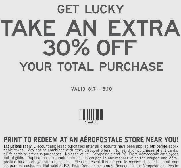 Aeropostale Coupon Codes 2015
