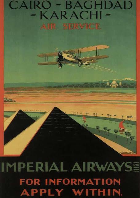 Винтажная реклама авиаперевозок 1920'х-30'х годов