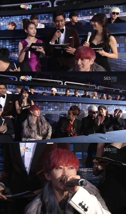 IU & Eunhyuk SBS Gayo Daejun 2012