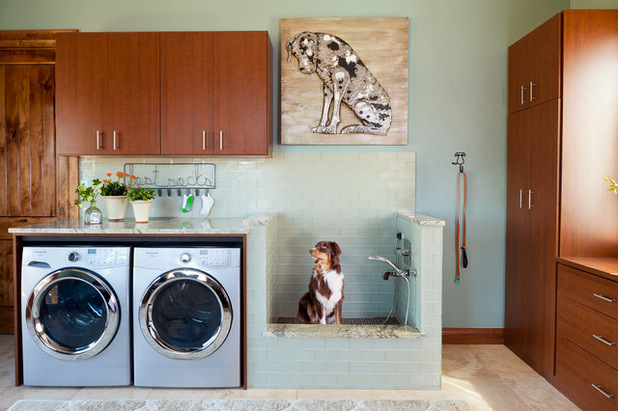 Space Saving Methods Make This Laundry Room Work. The Designer Moved The  Sink, Stacked The Appliances, And Added Floating Shelves In The  50 Square Foot ... Part 97