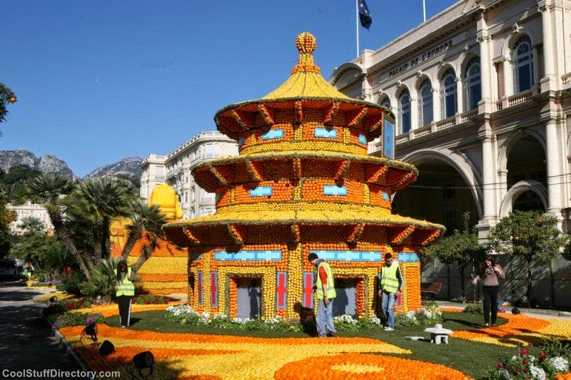Lemon Festival: Absolutely Wonderful Giant Sculptures Made From Citrus Fruits
