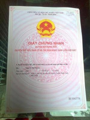 Sổ đỏ chính chủ của căn nhà thổ cư giá rẻ Hồ Tùng Mậu, Cầu Giấy, HN