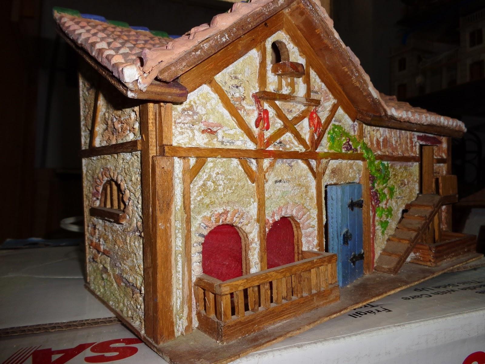 Mi lbum de ilusiones casas de madera estucadas pintadas - Casas de madera pintadas ...