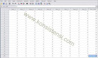 Uji Validitas Data Dengan SPSS Rumus Correlated-Item
