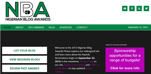 Nigeria's Best Blog Award Nominations and Vote is Open