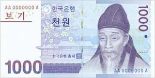 Mata Uang Negara Korea Utara Selatan