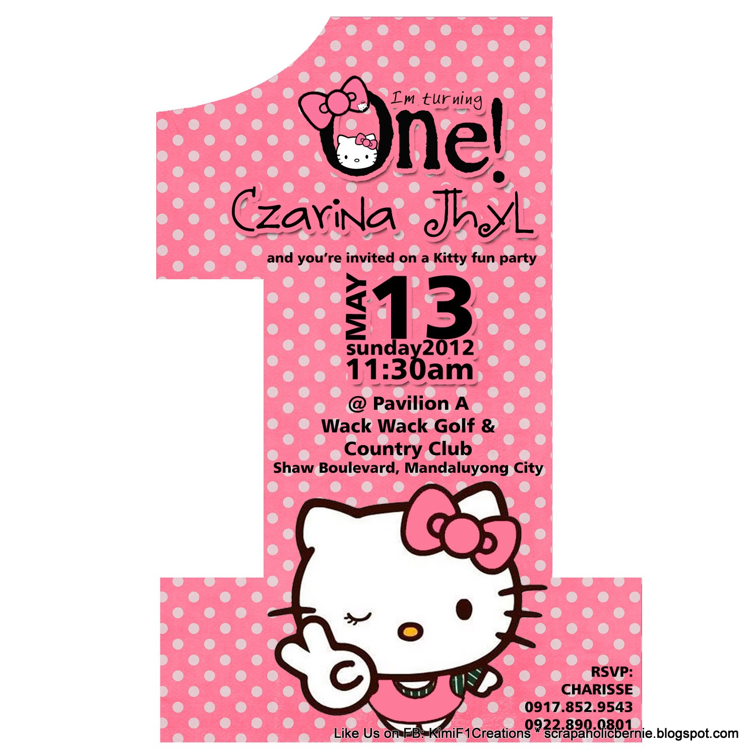 sample invite nahya s st birthday hello kitty